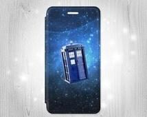Doctor Who Tardis iPhone 6S 6 Plus 6+ SE 5 5S 5C 4 Samsung Galaxy S7 Edge S6 Edge Plus S5 Note 5 4 Leather Flip Case