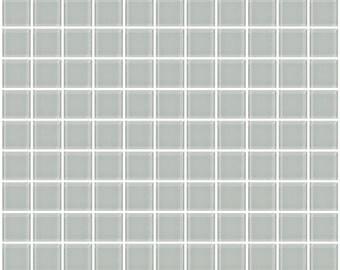 1-inch light grey glass tile (J1404)