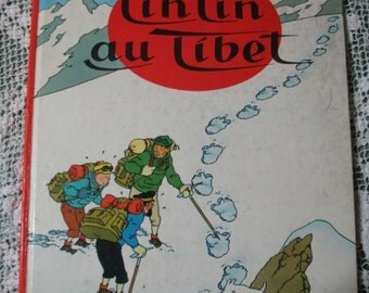 Cartoon edition Francaise tintin auTibet edition 1960 novels published in Belgium by casterman in 1966.Livre.