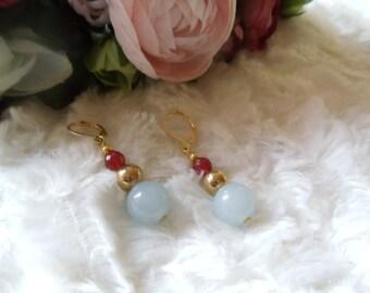 Earrings aquamarine #Rubin Neclaces jewelery