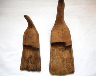 Antique Primitive Wooden Tool used in harvest time  lot of 2