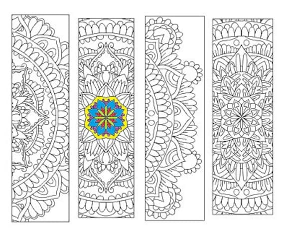 Bookmarks Coloring Printable, scaleable PDF file super quality, Instant Download. 28v.