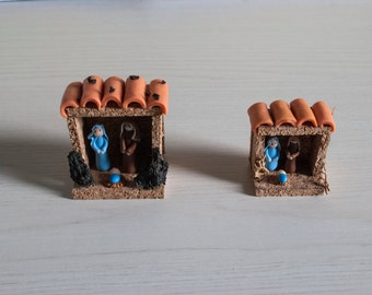 Miniature Nativity in Fimo