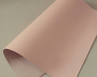 """Leather Scrap, Genuine Leather, Leather Pieces, Pink, Size 8.25"""" by 11.5""""  Leather Scrap for DIY Projects."""