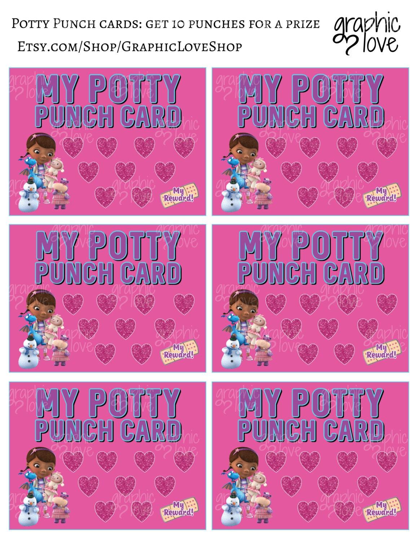 printable doc mcstuffins potty training chart punch cards 1