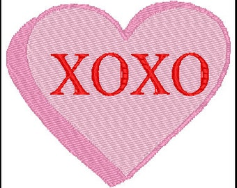 Valentines Day Heart Embroidery Design
