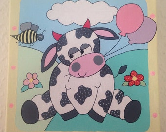 Baby girls nursery canvas