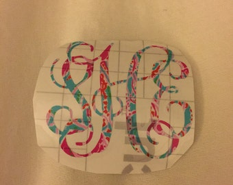 Lilly Pulitzer Patterned Monogramed Stickers!!