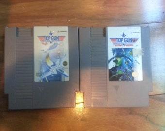 Original NES Nintendo Top Gun and Top Gun: Second Mission