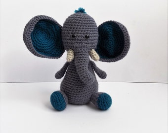 Victor the elephant crochet pattern **Pattern only**