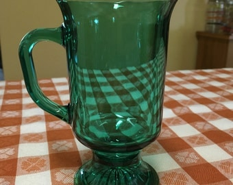 Anchor Hocking Vintage Glass Irish Coffee Mugs (4)