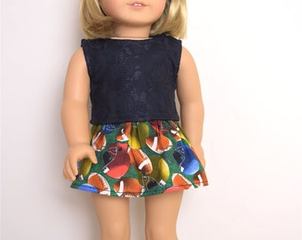 Football Skirt 18 inch doll clothes