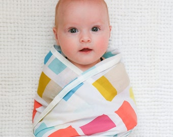 Baby Swaddle Wrap - 100% cotton - breastfeeding cover