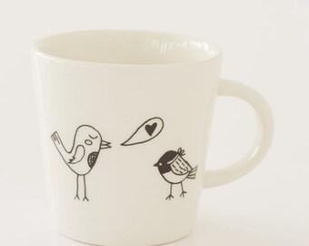 Ceramic Coffee Cup - Song Birds