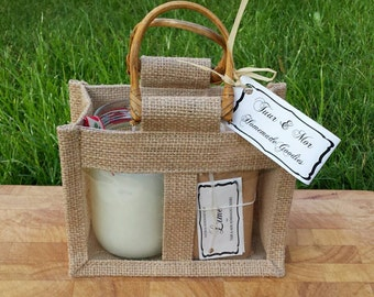 Natural Organic Soap and Candle Gift set