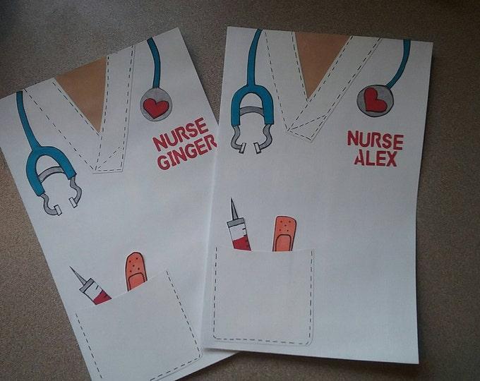 Featured listing image: Nurse card, nurse graduate, Nurses, nurse coat, RN, Congratulations, you did it, greeting card, graduation, Nursing school, congrats, card