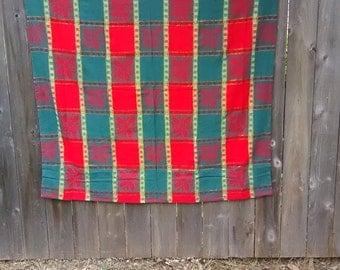 24.  Vintage Christmas Tablecloth