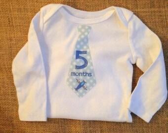 Five Month Onesie - Baby Boy