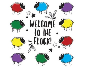 """Baptism Card greetings Card - JW. """"Welcome to the Flock."""""""