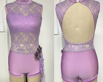 Adult XS boycut lace bodysuit