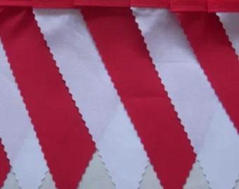 Japan, Canada, Georgia,England Red & White  fabric bunting