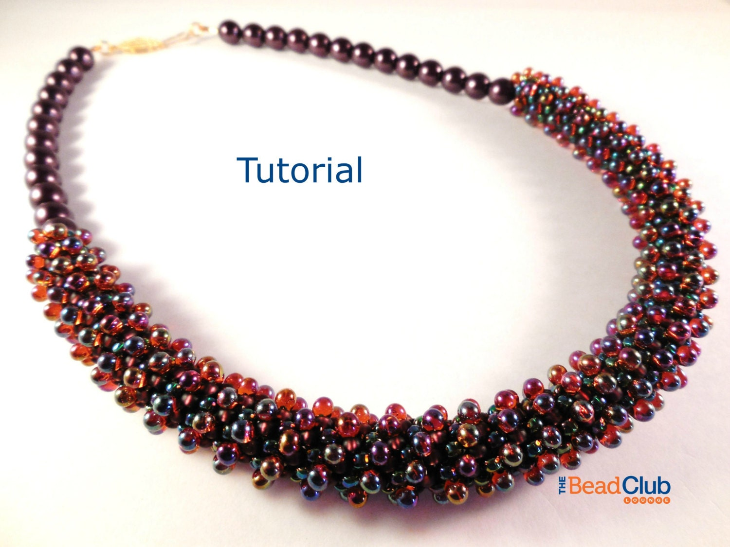 Peyote Stitch Patterns - Necklace Tutorial - Seed Bead Necklace ...