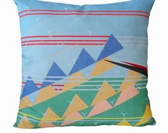 Geometric Wind Farm Cushion