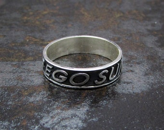 Customized Low Relief Sterling Silver Ring