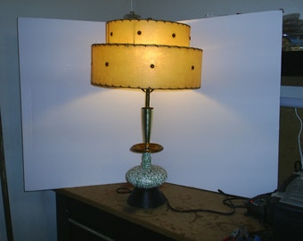 Atomic Age Ceramic Table Lamp