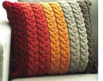 Aran Knitting Patterns For Cushion Covers : Aran cushion cover Etsy UK