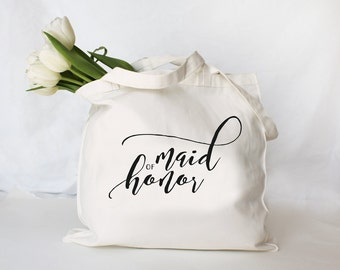 Personalized Maid of Honor Tote, Custom Bridesmaid Bag, Personalized Maid of Honor Bag, Custom Tote Bag, Personalized Wedding Party Bag