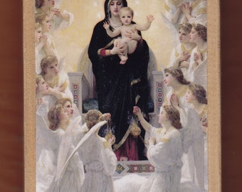 Virgin Mary,Adolphe-William Bouguereau, The Virgin With Angels,1900,Petit Palais,Paris.FREE SHIPPING