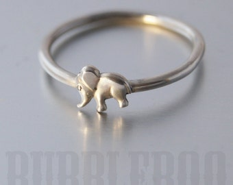 Silver Elephant Ring - Sterling Silver Ring - Jumbo - stackable - stacking ring - elephant gifts - Lucky Elephant