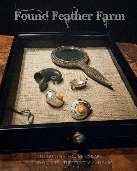 Vintage Locking Shop Display Box (Trinkets Not Included)