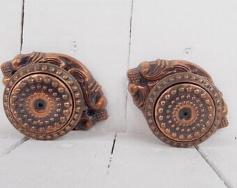 Retro door knob Door knob rustic Metal door knobs Door hardware soviet Vintage knob handles Antique door knob Rustic cottage