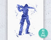 Squall Leonhart Final Fantasy Print Final Fantasy Poster Final Fantasy Art Watercolor Printable Kids Printable Instant Download Printable featured image