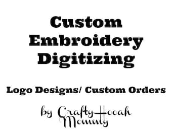 Custom Order Embroidery Designs, Embroidery Digitizing, Custom Embroidery Patterns, Logo Digitizing, Hand Digitized Designs, Simple Logo