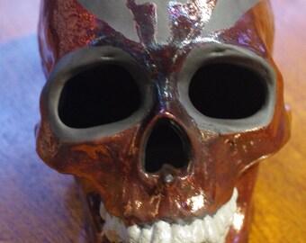 Raku Fired Ceramic Skull