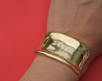 9/8 MADE in EUROPE half bracelet, zamak half bracelet, gold half bracelet, bracelet connector (ABLZ33)Qty1