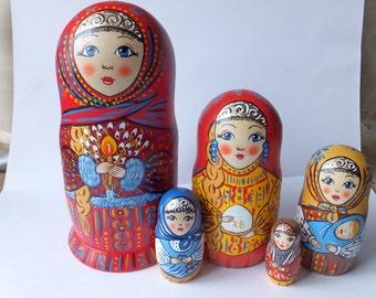 Russian doll Matryoshka Easter