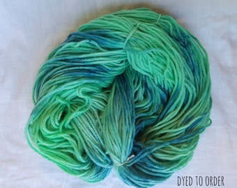 Seaglass - Hand-Dyed / Hand-Painted Yarn - Superwash Merino Wool - Dyed To Order