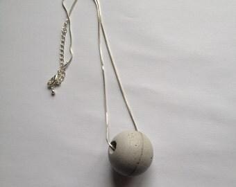 Concrete bullet pendant