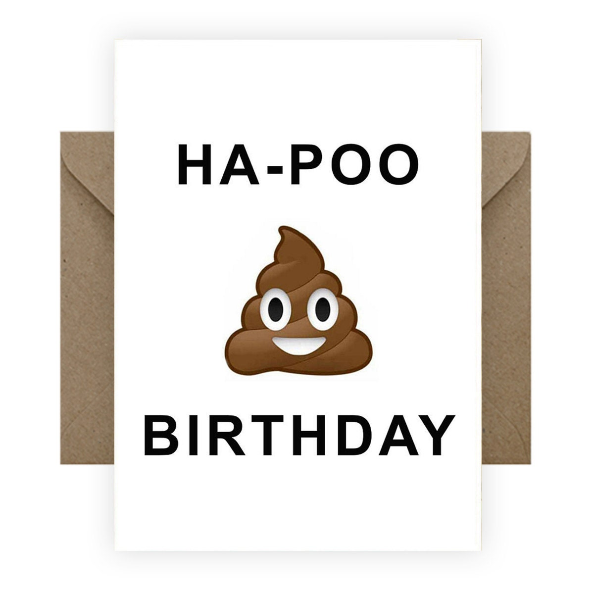 Emoji Poo Birthday Card By RumbleCards On Etsy
