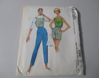 Vintage  1959 McCall's Sewing Pattern # 5300 Misses' And Junior Sports Ensemble Size 16 Bust 36 Uncut