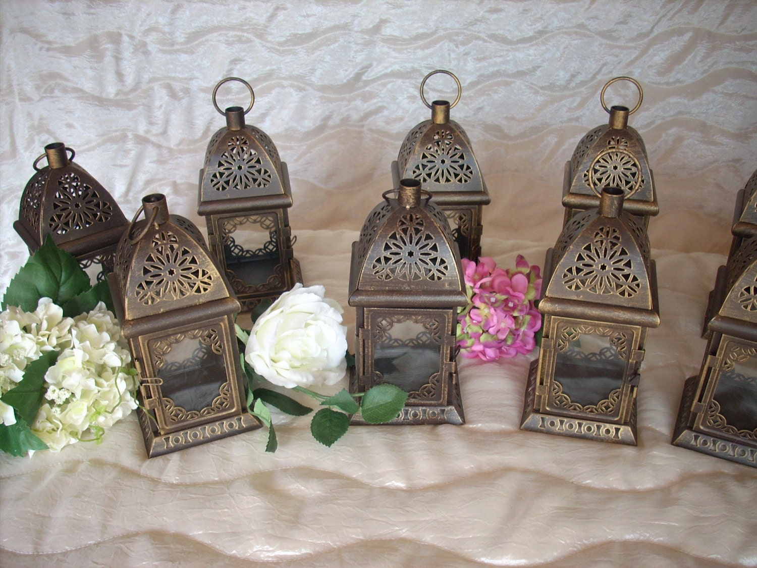 Set of rustic lantern wedding by