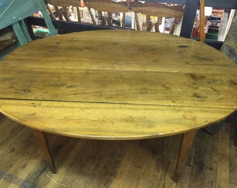 Country French Cherrywood Drop Leaf Dining Table, Antique, Local Alexandria Pick UP ONLY