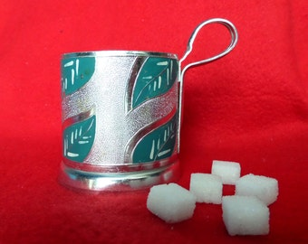 Soviet Vintage Tea Glass Holder from railway, item from Soviet Union, made in  USSR