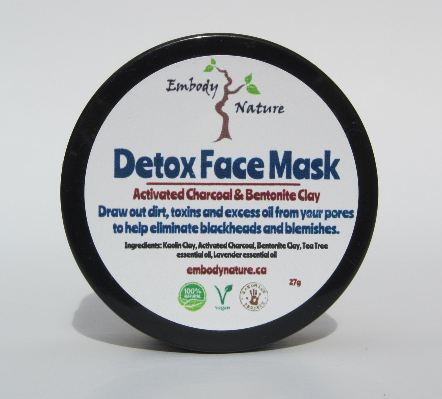 Bentonite Clay And Activated Charcoal Face Mask: All Natural Detox Face Mask Activated Charcoal And By