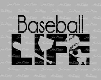 Baseball life svg dxf eps png, Baseball Life design, Life SVG File, svg file for Cricut, Silhouette, svg cutting file, baseball life files