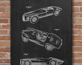 Mercer Cobra Patent Print, Mercer Cobra Poster, Garage Decor, Boys Room Decor, Patent Print - DA0632